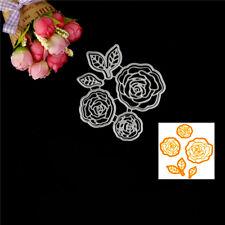 Rose Flower Design Metal Cutting Die For DIY Scrapbooking Album Paper CardsVB