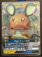 Pokemon Card   DEDENNE  GX  Ultra Rare 57/214  UNBROKEN BONDS **MINT**