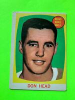 Don Head 1961-62 Topps Rookie Hockey Card #17  Boston Bruins