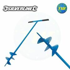 Silverline Fence Post Hole Auger Drill Digger Outil à main Jardin 127 mm 868696