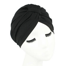 New Women Indian Stretchable Chemo Pleated Turban Hat Hijab Cap Headwrap