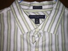 Banana Republic Green-Gray Striped Cotton Sport Shirt Mint Size Xl 17-17.5