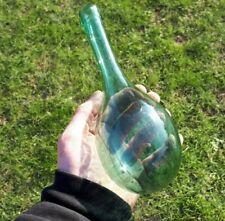 More details for 1800s antique hand blown bottle aqua