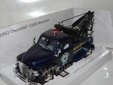 "1953 Chevrolet 3100 Wrecker Blue Die Cast Model 5"" New In Box"