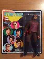 Vintage 1974 Mego Star Trek Klingon Action Figure, Unpunched Sealed MOC