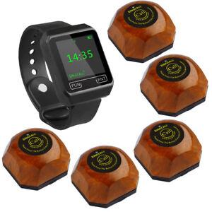SINGCALL Wireless Hospital Calling Nurse System 1 Watch Receiver 5 One-key Bells