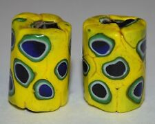 Antique Venetian Yellow Italian Millefiori Beads Murrine Cane, African Trade