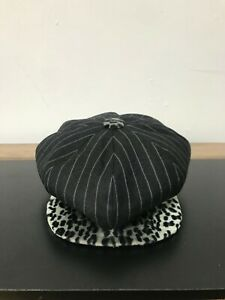 A CHILD OF THE JAGO CLYDE HAT GREY STRIPE & SNOW LEOPARD COLOUR SIZE L