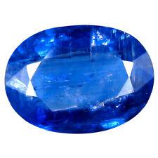 3.61 ct AA+ Flashing Oval Shape (12 x 8 mm) Blue Kyanite Natural Gemstone