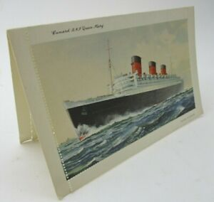 Unused Cunard Cruise Line RMS Queen Mary Perforated Postal Letter Card Postcard