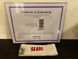 LeBron James SLAM Magazine Worn Used Headband - Aug '03 Rookie Yr - 1 Of 1 - COA