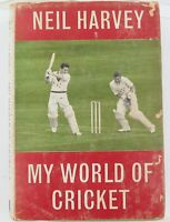 "1963 NEIL HARVEY AUTOGRAPHED BOOK ""NEIL HARVEY. MY WORLD OF CRICKET""."