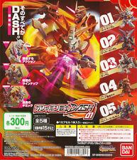 SD Gundam Warrior DASH 01 God Gundam Master Char Zaku II Mk-II Gashapon Set 5pcs