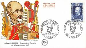 Enveloppe FDC FRANCE ALBERT ROUSSEL compositeur 1969 TOURCOING