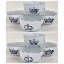 Set of 8 MITCHELL BLACK Crowns Bowls - Round Ice cream / Dessert bowls