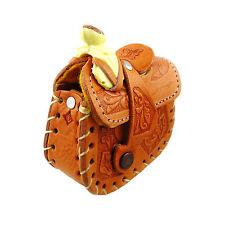 Horse Saddle Genuine Leather Hand-tooled Girl's Small Shoulder Bag