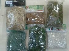 6 buste fieno muschio erba  sassolini  sughero presepe miniature crib pastori