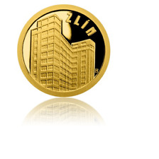 2018 New Zealand NIUE 0.5g 999.9 GOLD Proof Coin, Zlin Bata's Skyscraper