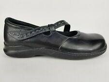 Softwalk Mary Jane Flats Black Leather Eggcrate Comfort Shoe Casual Women 11 W