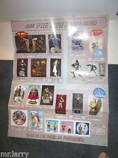 RETAIL COMIC BOOK STORE DISPLAY POSTER PREVIEWS EXCLUSIVES PROMO DC DIRECT 28X22