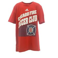 Chicago Fire Official MLS Apparel Climalite Kids Youth Size Athletic T-Shirt New