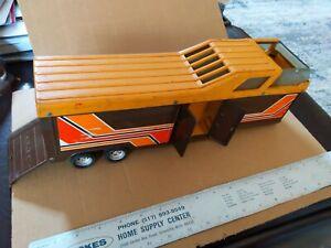 Ertl Horse Camper Trailer vintage brown orange parts repair toy