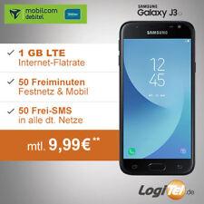 Samsung Galaxy J3 Handy mit mobilcom Vertrag 1GB Allnet Flat inkl. 9,99€ mtl.