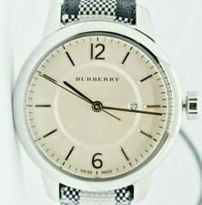 Burberry Horseferry Check Sapphire Crystal Watch NEW NWT
