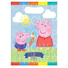 Peppa Pig, George Pig Para Niños Niñas Niños Niños Cumpleaños botín de grupo Bolsas X8