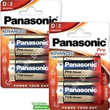 4 x Panasonic D Size Pro Power Alkaline Batteries 2028 Expiry LR20, MN1300, Mono