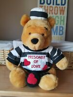 "Walt Disney ~ WINNIE THE POOH Prisoner Of Love Full Size 12"" Plush Stuffed Bear"