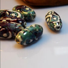 Vintage Loose Ceramic Porcelain Shaped Beads Eyes Charms Jewelry High Quality