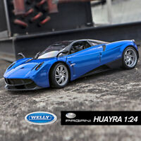 Pagani Huayra Blue Super Sports Car Model 1/24 Scale Diecast Metal Gift By Welly