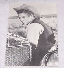 Postcard James Dean with Cowboy Hat & Smoking New Black & White  #232-027
