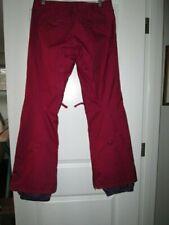 BURTON DRY RIDE ski-snow-board pants. Women's. Burgundy/red.  Adjustable waist.