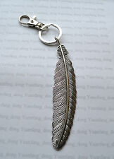 A Extra Large Native American Indian Tribe Feather Leaf Owl Harry Potter Keyring
