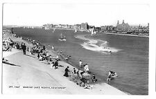 Marine Lake North, Southport, RP Unposted, Friths, SPT 164F, Speedboat & Bathers