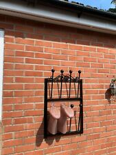 wrought iron wall mounted wellington boot stand very strong