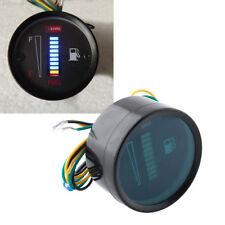 62DC Universal Car Motor 52mm Fuel Meter LED Digital 12V System Ratio Gauge E935