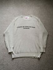 Supreme x Comme des Garçons Heavy Knitted Tan Sweater (Large) - CDG FW18