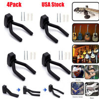 4-PACK Guitar Hanger Hook Holder Wall Mount Display Instrument Acoustic Electric