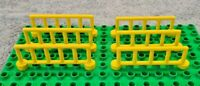 LEGO DUPLO 6 Yellow Spear Fence Panels For Farm, Zoo, Safari & More Free UK P&P