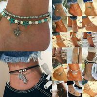 Women Ankle Chain Anklet Bracelet Foot Sandal Barefoot Beach Love Heart Jewelry