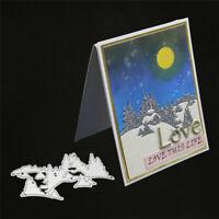 Stanzschablone Schnee Haus Tannenbaum Weihnachten Hochzeit Geburtstag Album Deko