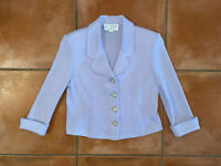 Women's EUC ST John Collection Marie Gray Lilac Sweater Blazer Sz 6