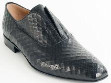 New Cesare Paciotti  Black Leather Shoes UK 7 US 8 Retail $ 635
