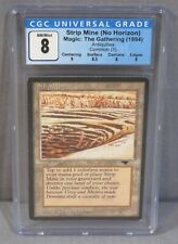 "Magic The Gathering ""STRIP MINE"" No Horizon CGC 8 NM/Mint Antiquities 1994 MTG"