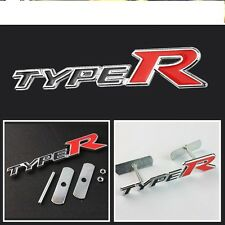 JDM RED Type R GRILL BADGE 3D Metal Rally Racing Front Hood Grille TYPE-R EMBLEM