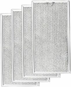 4-Pack OEM Kitchenaid KHMS2040WSS0 Aluminum Mesh Microwave Oven Grease Filter