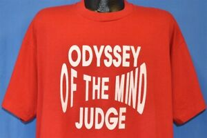 vtg 90s ODYSSEY OF THE MIND JUDGE OOTM PROBLEM SOLVING COMPETITION t-shirt XXL